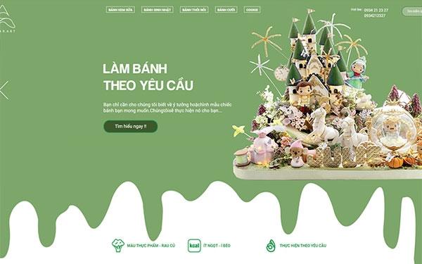 Thiết Kế Website Bánh Ngọt – Tiệm Bánh Kem Chuyên Nghiệp